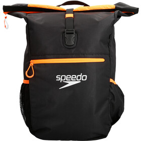speedo Team III+ Backpack 45L Unisex, black/fluo orange